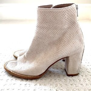 Off-White Leather Open-Toe Booties
